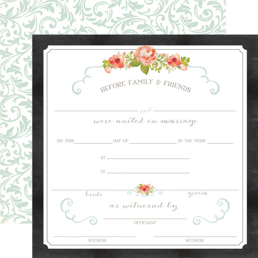Carta Bella Papers - Rustic Elegance - Certificate - 2 Sheets