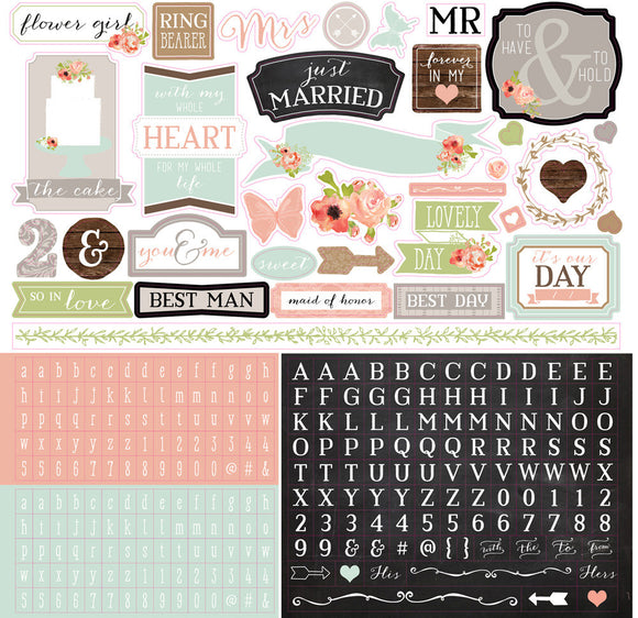 Carta Bella 12x12 Cardstock Stickers - Rustic Elegance - Elements