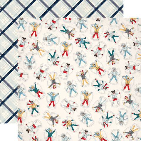 Carta Bella Papers - Snow Fun - Snow Angels - 2 Sheets