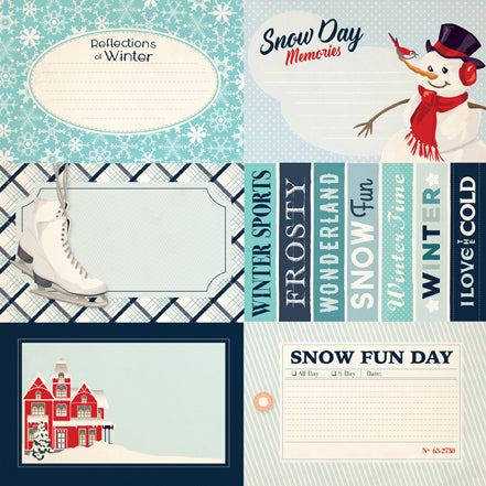 Carta Bella Cut-Outs - Snow Fun - 4x6 Journaling Cards