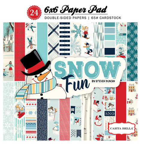 Carta Bella 6x6 Pad - Snow Fun