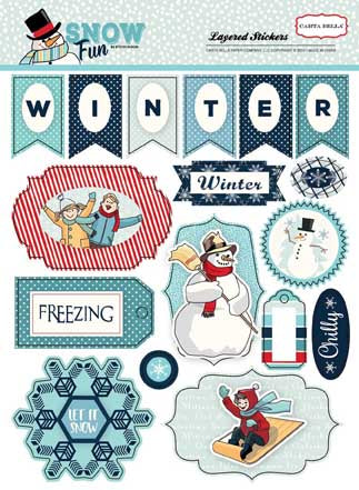 Carta Bella Layered Stickers - Snow Fun