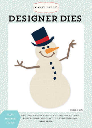 Carta Bella Designer Dies - Snow Fun - Joyful Snowman Set