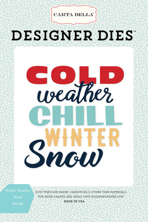 Carta Bella Designer Dies - Snow Fun - Winter Weather Word Set