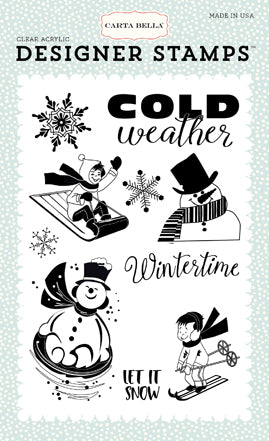 Carta Bella Clear Stamp Set - Snow Fun - Wintertime