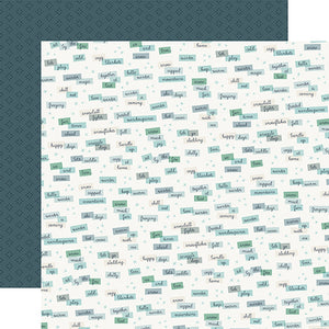 Carta Bella Papers - Snow Much Fun - Winter Words - 2 Sheets