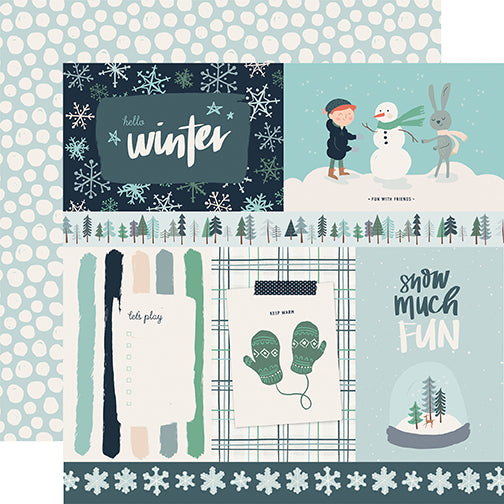 Carta Bella Cut-Outs - Snow Much Fun - 4x6 Journaling