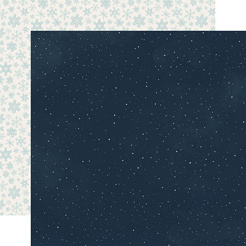 Carta Bella Papers - Snow Much Fun - Snowy Night - 2 Sheets