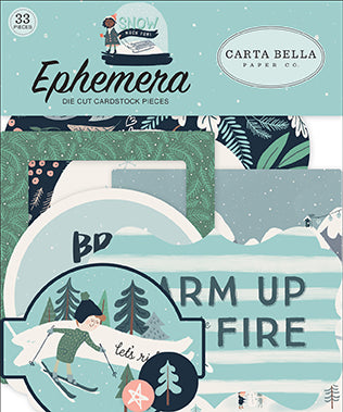 Carta Bella Ephemera Die-Cuts - Snow Much Fun