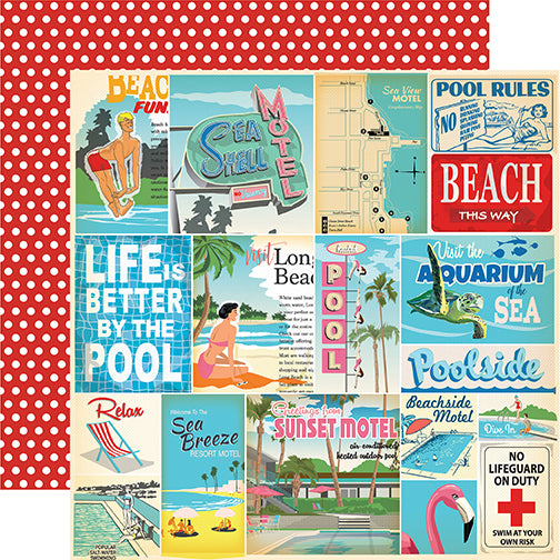 Carta Bella Cut-Outs - Summer Splash - Vacation Journaling Cards