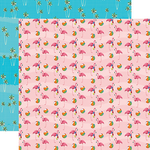Carta Bella Papers - Summer Splash - Flamingo Fun - 2 Sheets