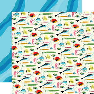 Carta Bella Papers - Summer Splash - Gone Fishing - 2 Sheets