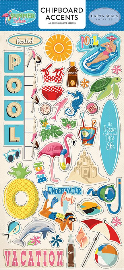 Carta Bella Chipboard - Summer Splash - Accents