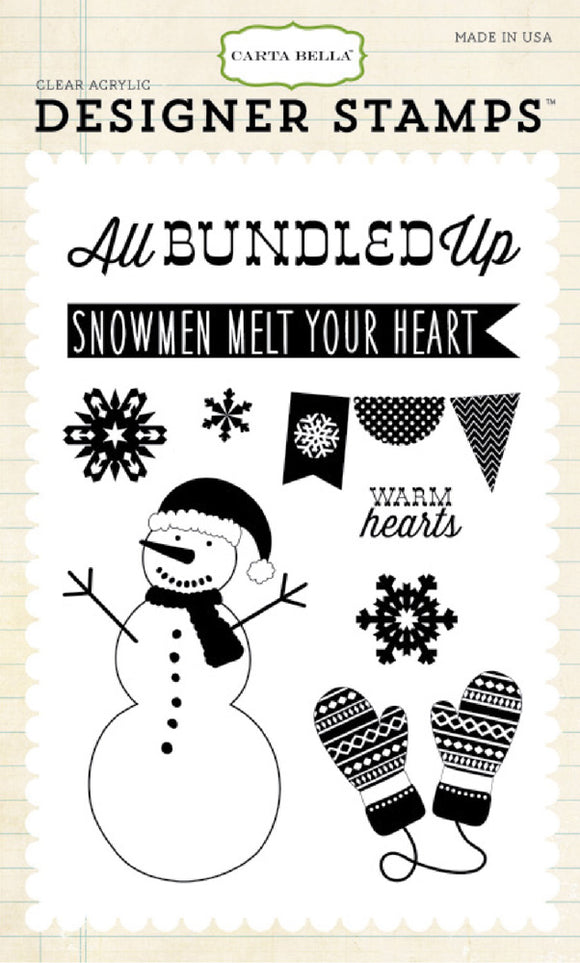 Carta Bella Clear Stamp Set - All Bundled Up