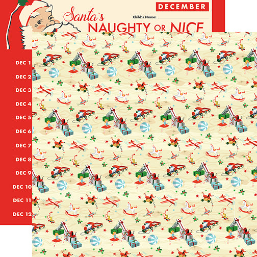 Carta Bella Papers - Santa's Workshop - Toy Land - 2 Sheets
