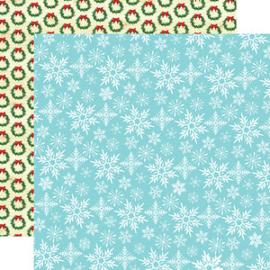 Carta Bella Papers - Santa's Workshop - Let It Snow - 2 Sheets