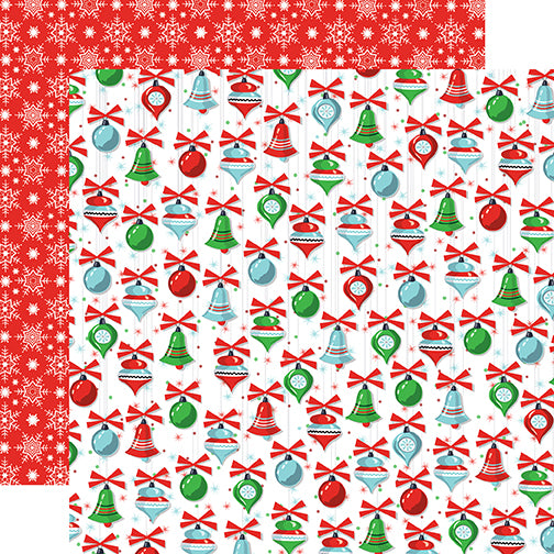 Carta Bella Papers - Santa's Workshop - Christmas Trimmings - 2 Sheets