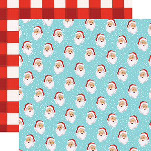 Carta Bella Papers - Santa's Workshop - Holly Jolly Santa - 2 Sheets