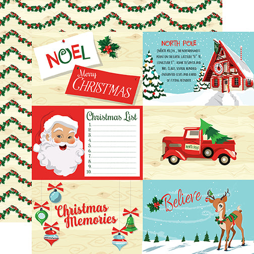 Carta Bella Cut-Outs - Santa's Workshop - 4x6 Journaling Cards