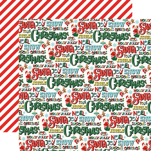 Carta Bella Papers - Santa's Workshop - Season's Greetings - 2 Sheets