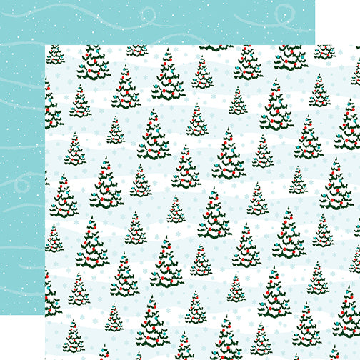 Carta Bella Papers - Santa's Workshop - Oh Christmas Tree - 2 Sheets