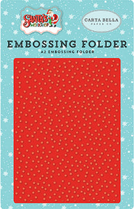 Carta Bella Embossing Folder - Santa's Workshop - Whiteout