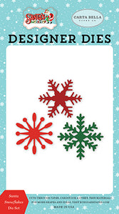 Carta Bella Designer Dies - Santa's Workshop - Santa Snowflakes Die Set
