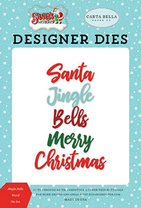 Carta Bella Designer Dies - Santa's Workshop - Jingle Bells Word Die Set