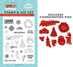 Carta Bella Die and Stamp Set - Santa's Workshop - To All a Good Night