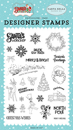 Carta Bella Clear Stamp Set - Santa's Workshop - To All a Good Night