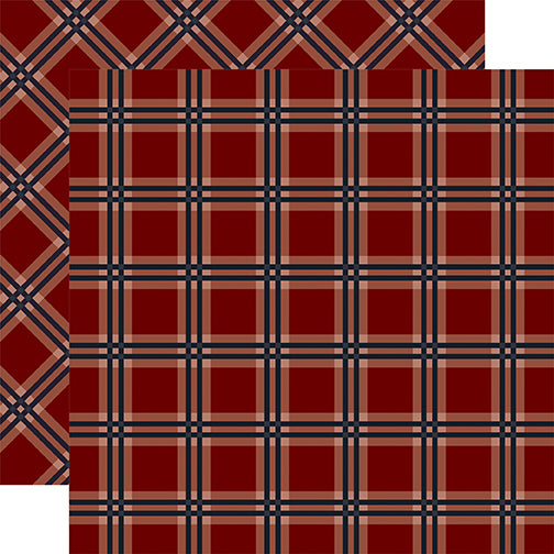 Carta Bella Papers - Tartan No.2 - Red Tattersall - 2 Sheets