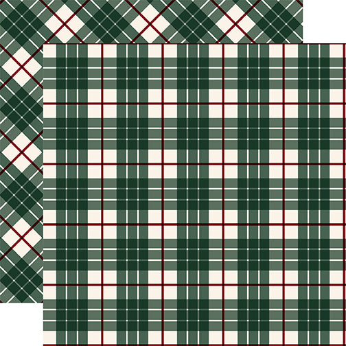 Carta Bella Papers - Tartan No.2 - Green Glen - 2 Sheets