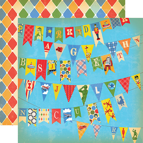 Carta Bella Papers - Toy Box - Toy Banner - 2 Sheets