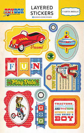 Carta Bella Layered Stickers - Toy Box