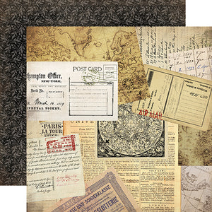 Carta Bella Papers - Transatlantic Travel - Air Mail - 2 Sheets