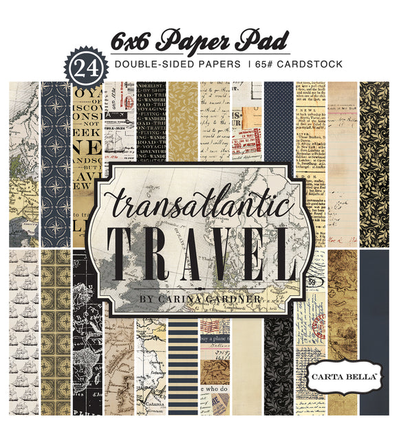 Carta Bella 6x6 Pad - Transatlantic Travel
