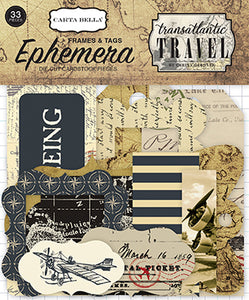 Carta Bella Ephemera Die-Cuts - Transatlantic Travel - Tags & Frames