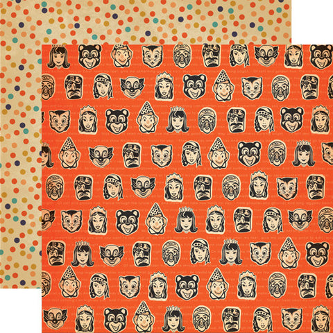 Carta Bella Papers - Trick or Treat - Masks - 2 Sheets