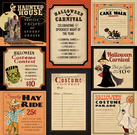 Carta Bella Cut-Outs - Trick or Treat - Halloween Carnival