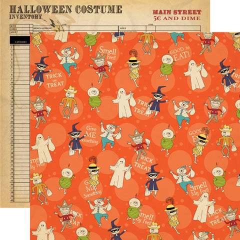 Carta Bella Papers - Trick or Treat - Bag of Treats - 2 Sheets