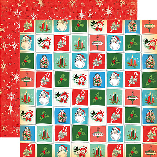 Carta Bella Papers - A Very Merry Christmas - Christmastime Squares - 2 Sheets