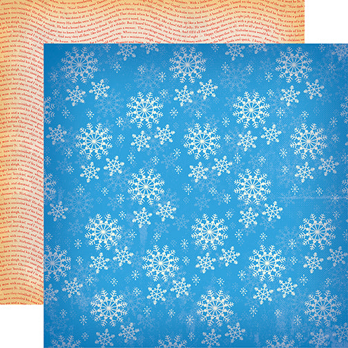 Carta Bella Papers - A Very Merry Christmas - Winter Snowflakes - 2 Sheets