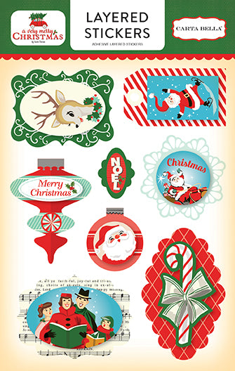 Carta Bella Layered Stickers - A Very Merry Christmas