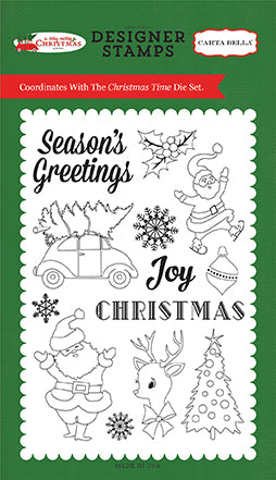 Carta Bella Stamp and Die Set - A Very Merry Christmas - Christmas Time