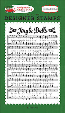 Carta Bella Background Stamp - A Very Merry Christmas - Jingle Bells