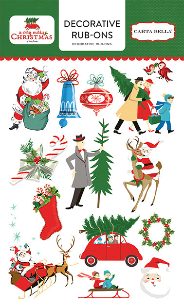 Carta Bella Enamel Stickers - A Very Merry Christmas - Shapes