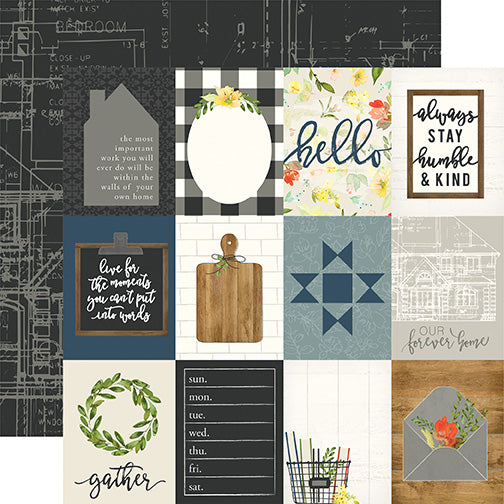 Carta Bella Cut-Outs - Welcome Home - 3x4 Journaling Cards