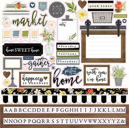 Carta Bella 12x12 Cardstock Stickers - Welcome Home - Elements