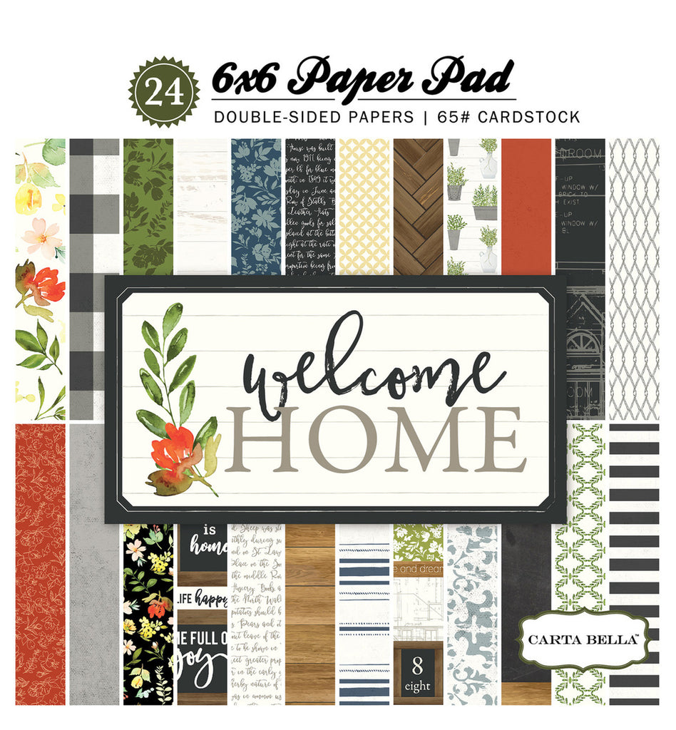 Carta Bella 6x6 Pad - Welcome Home