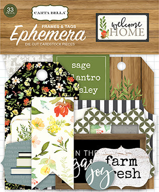 Carta Bella Ephemera Die-Cuts - Welcome Home - Frames & Tags